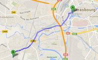 Itinéraire depuis Strasbourg Centre